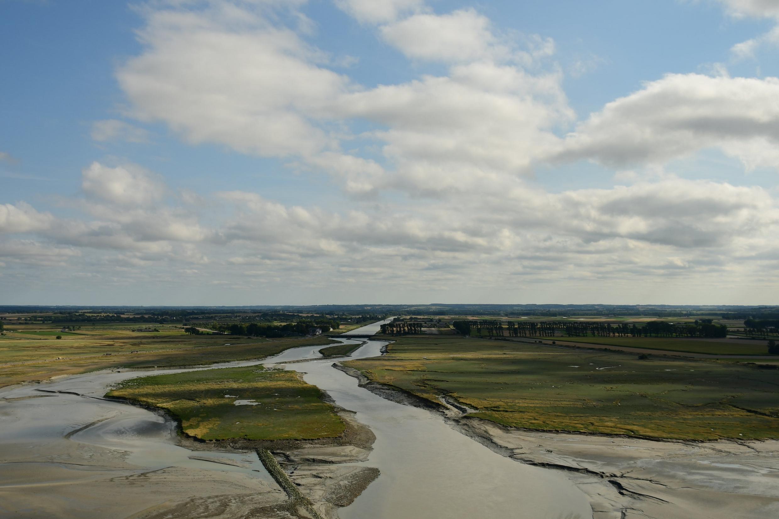 view from le mont saint michel, normandy