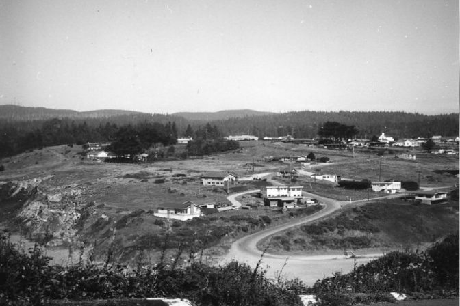 The area of the marine lab in Trinidad in 1965, prior to construction. Photo: HSU.