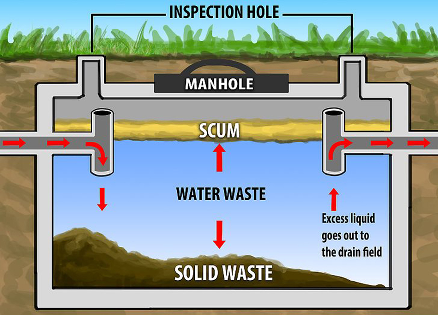 too much water in your septic tank