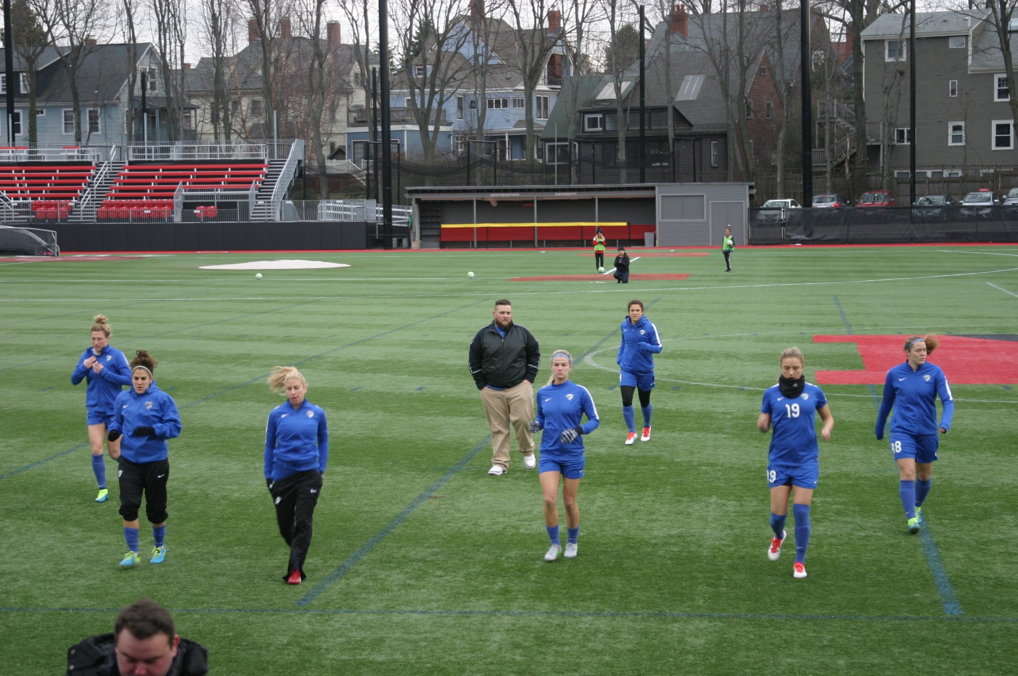 Warming up was a challenge with kickoff temps in the low 30s.