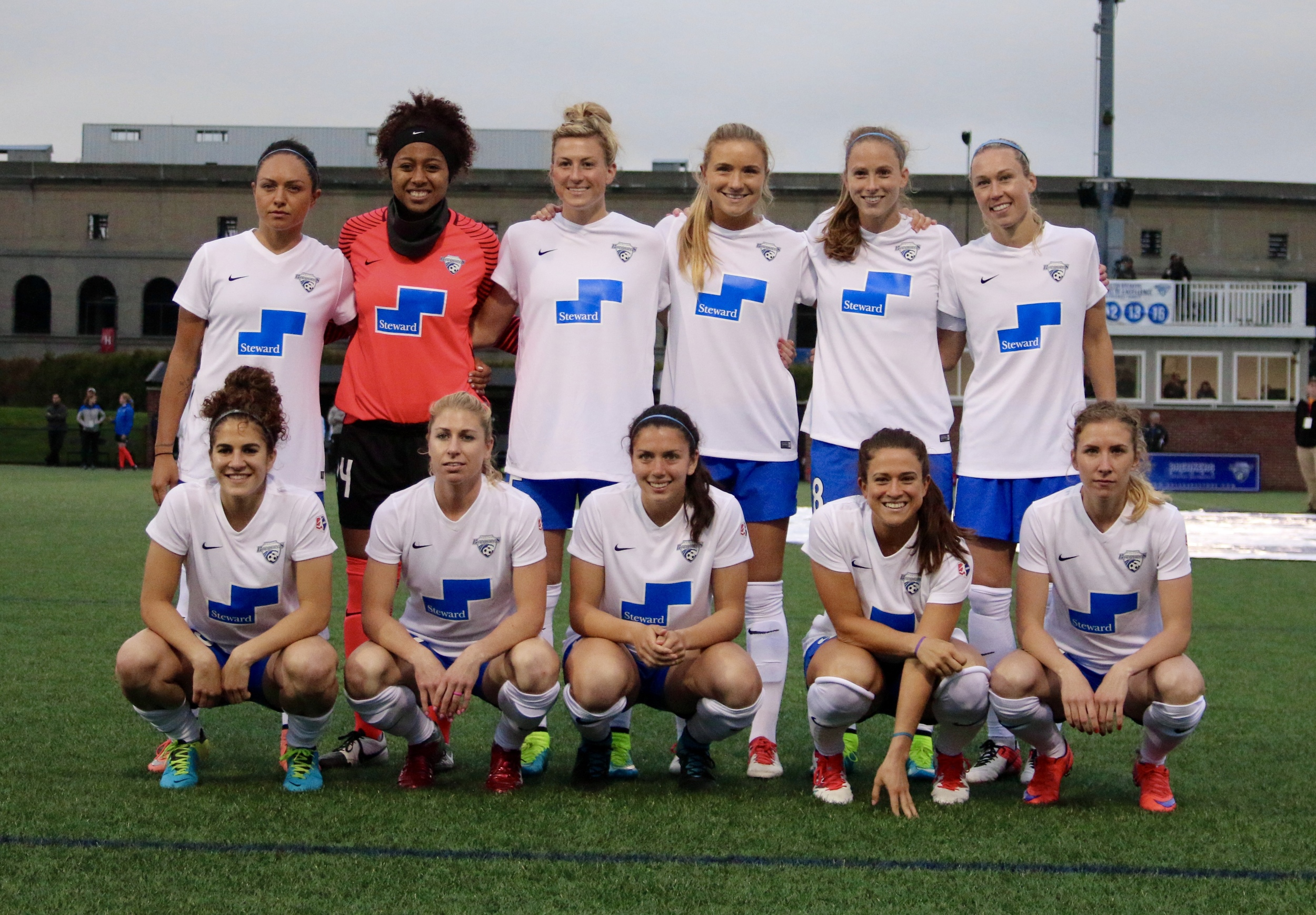 Boston prior to the home match vs chicago red stars. Abby smith with two fully functional knees.