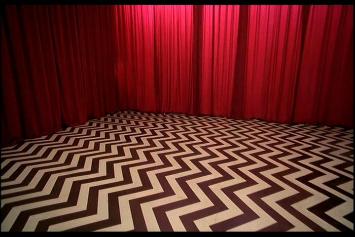 The Black Lodge:A live view of my house on Sunday night.