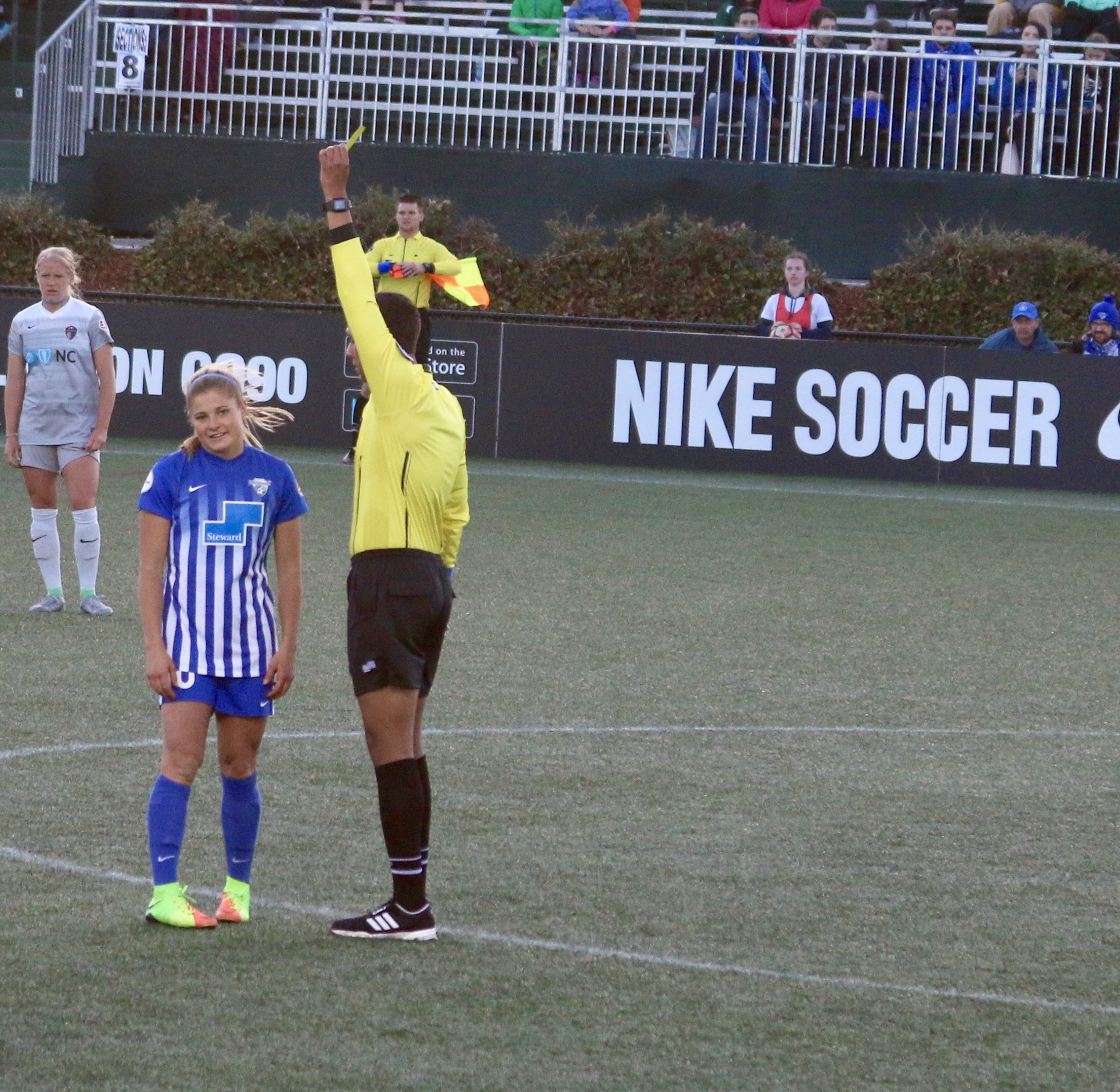 Rosie White, after fouling McCall Zerboni