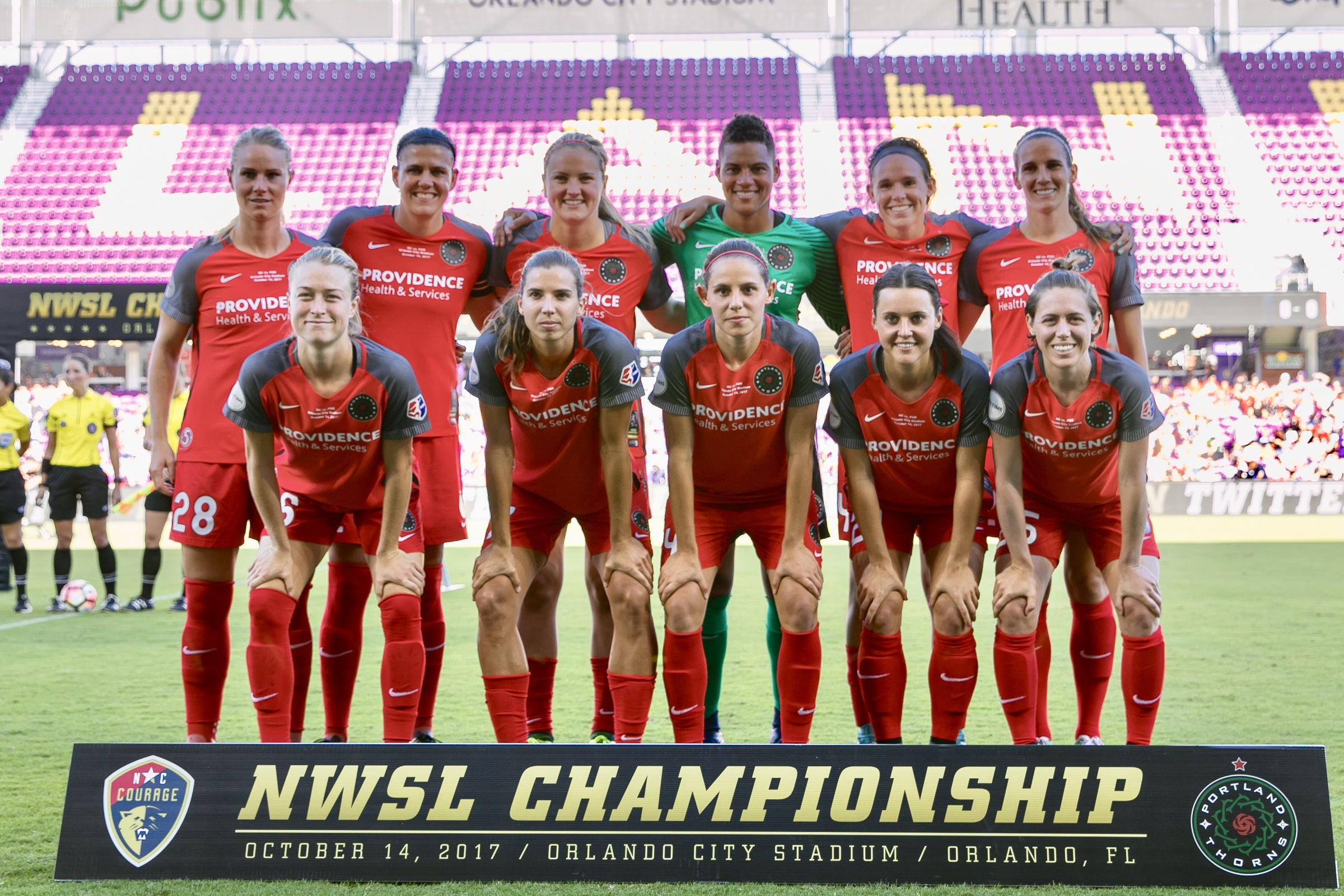 Your 2017 NWSL Championship starters for the Portland Thorns. Photo: @BDZsports
