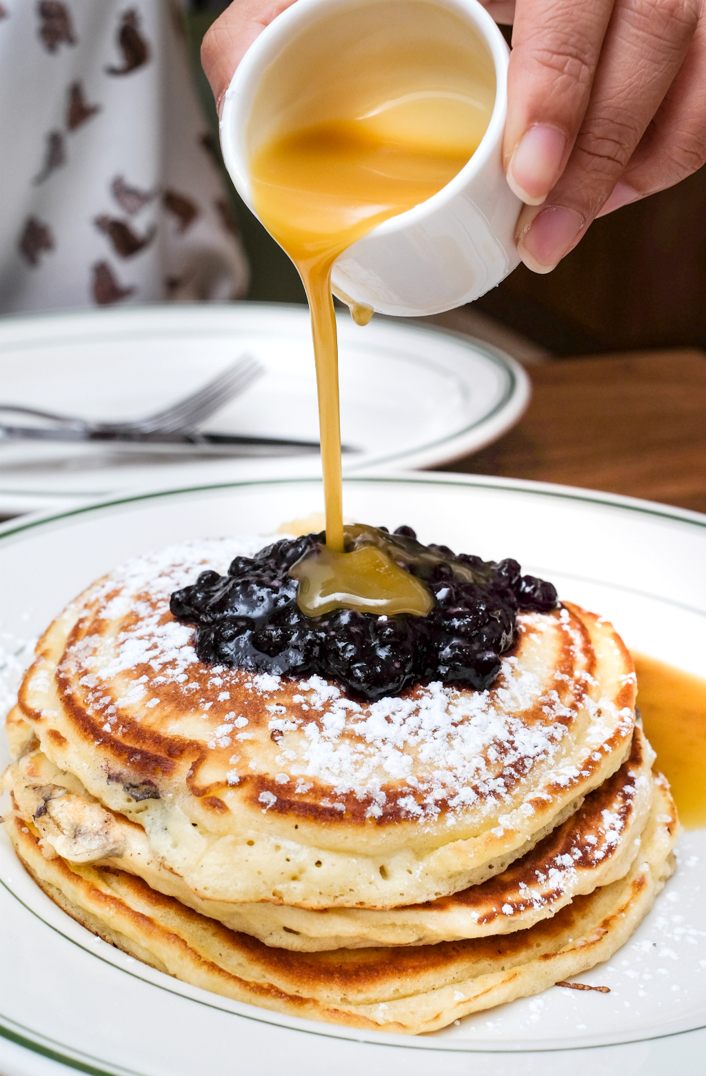 Clinton St Baking Company's Famouse Maine Blueberry Pancakes with Maple Butter Sauce