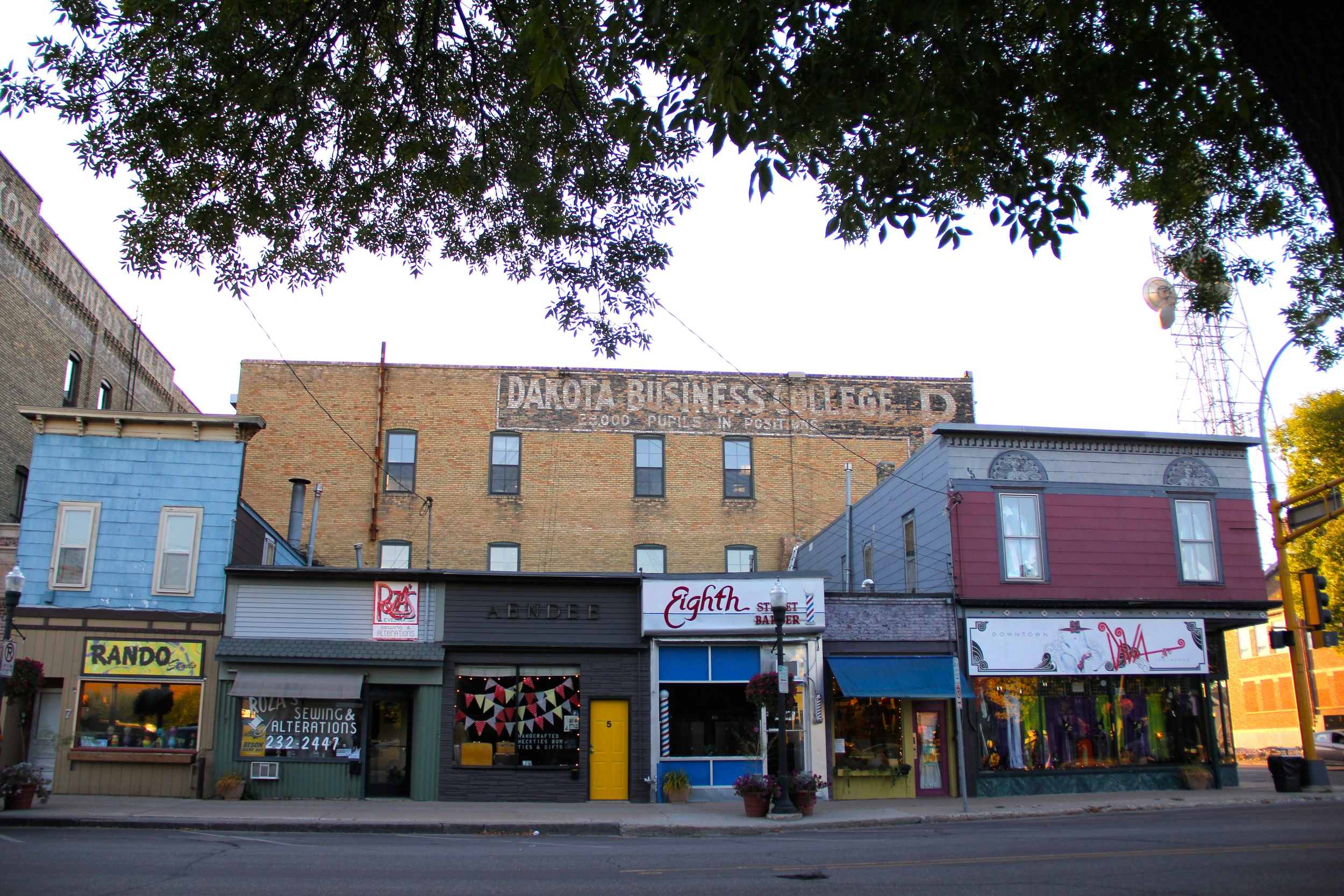 Shops on 8th Street.