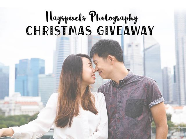 Christmas is coming and it's the season of giving. We are giving away a free 2 hours couple photoshoot of any one location of your choice in Singapore with 20 Edited Images returned! Only 1 winner will be chosen.  Contest will end on 31 Dec 2016, 2359hrs ⏱  1) Follow us on instagram (@hayspixels) 2) Post a Christmas photo of yourself with your partner, in the caption tag @hayspixels, hashtag #haysXmas and tell us why you like to celebrate Christmas with your partner! 3) Do set your profile public between 31 Dec - 4 Jan for us to view the photos!  Winner to be announced on 5 January 2017. 🎅🎁🎄 Merry Christmas and a Happy New Year! 🎉