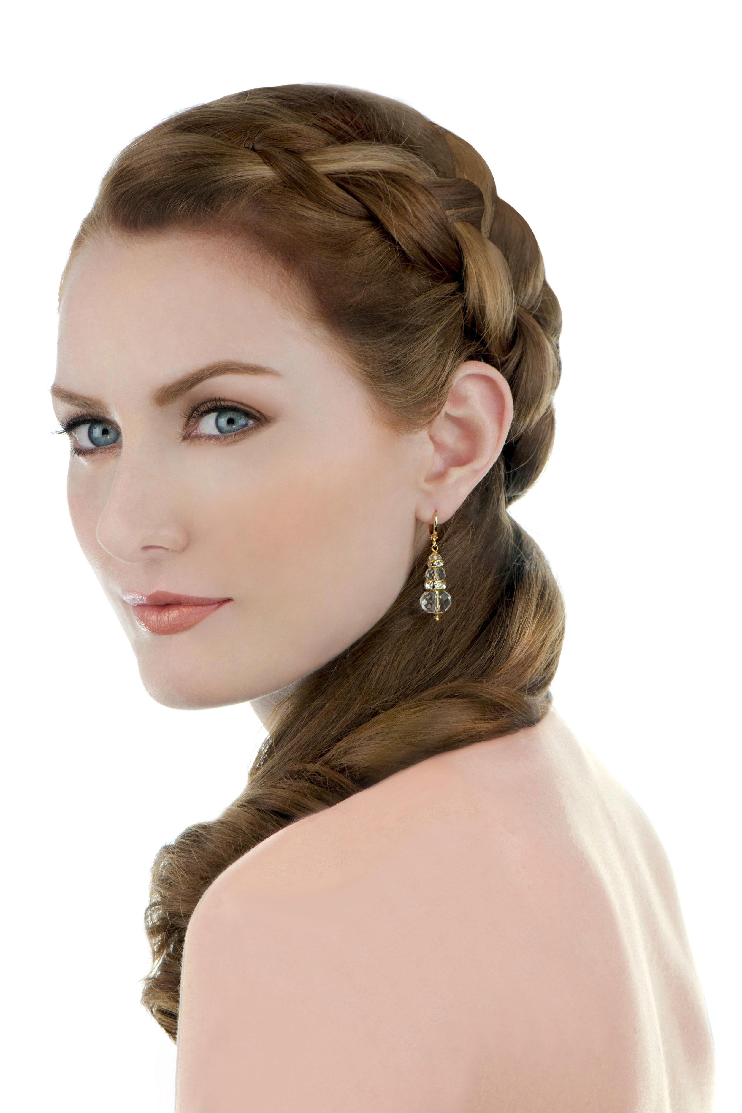 photo: Corey Gomes  hair and makeup: Noel McKinnon    Seaside Crystal Earrings