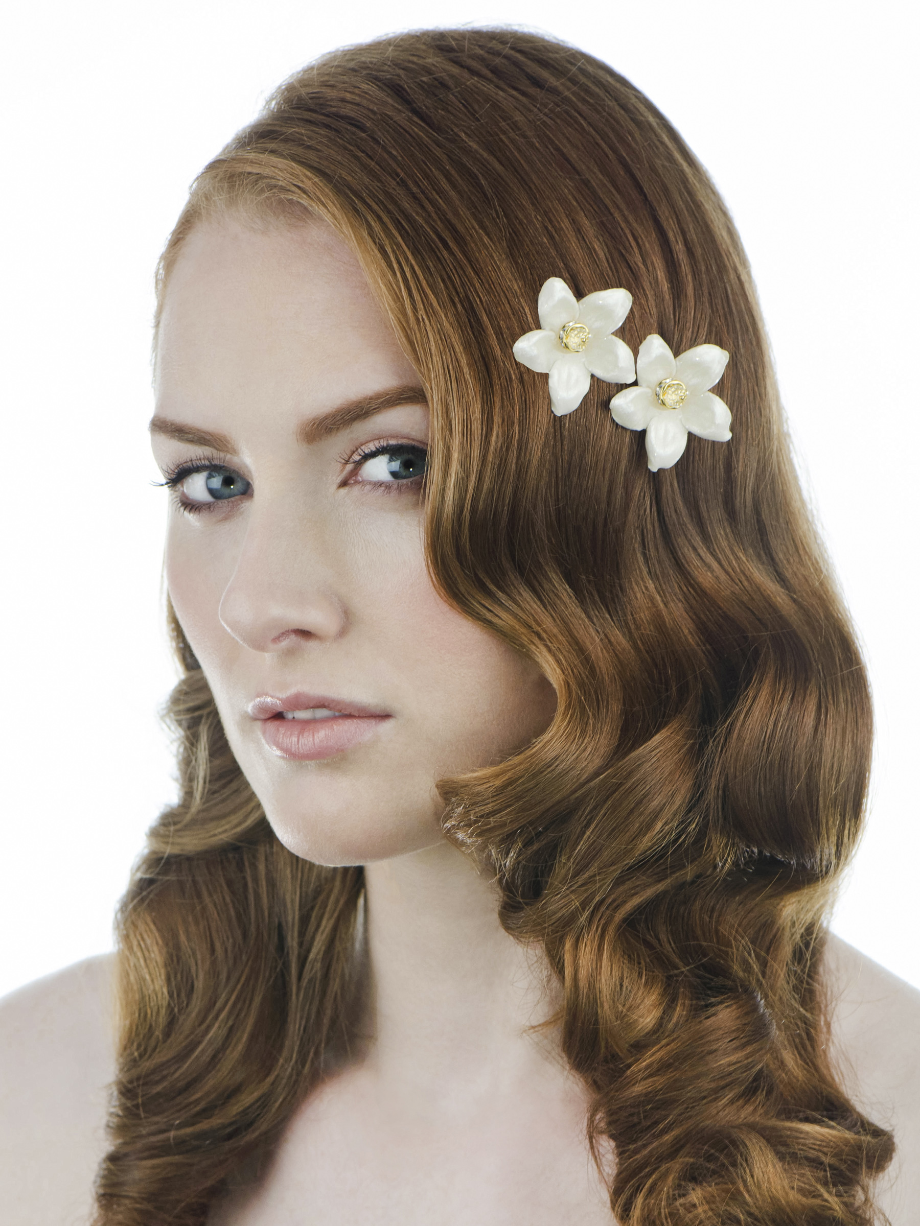 photo Corey Gomes  hair & make up Noel McKinnon    Joy Jasmine Single Blossom Combs