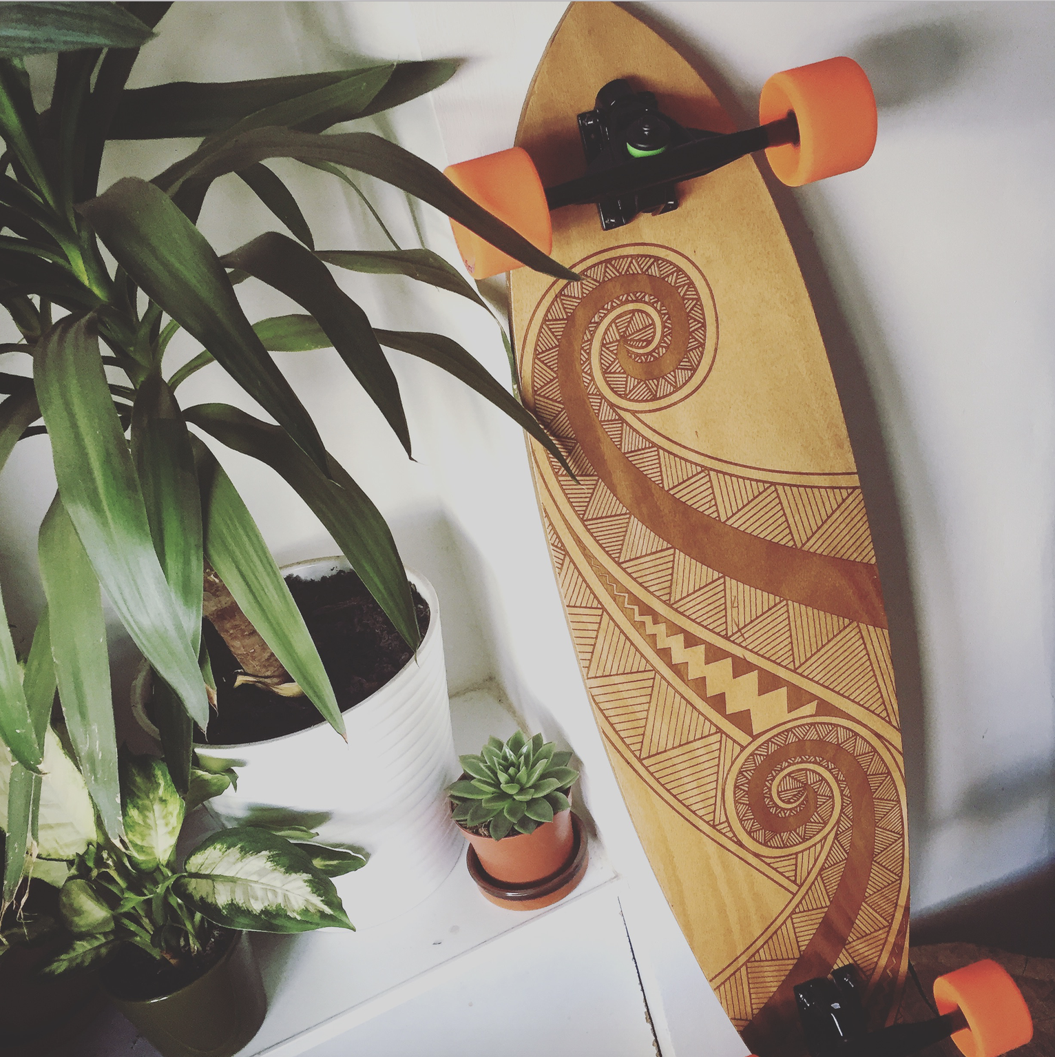 Longboard Designed and made using a laser and water jet cutter