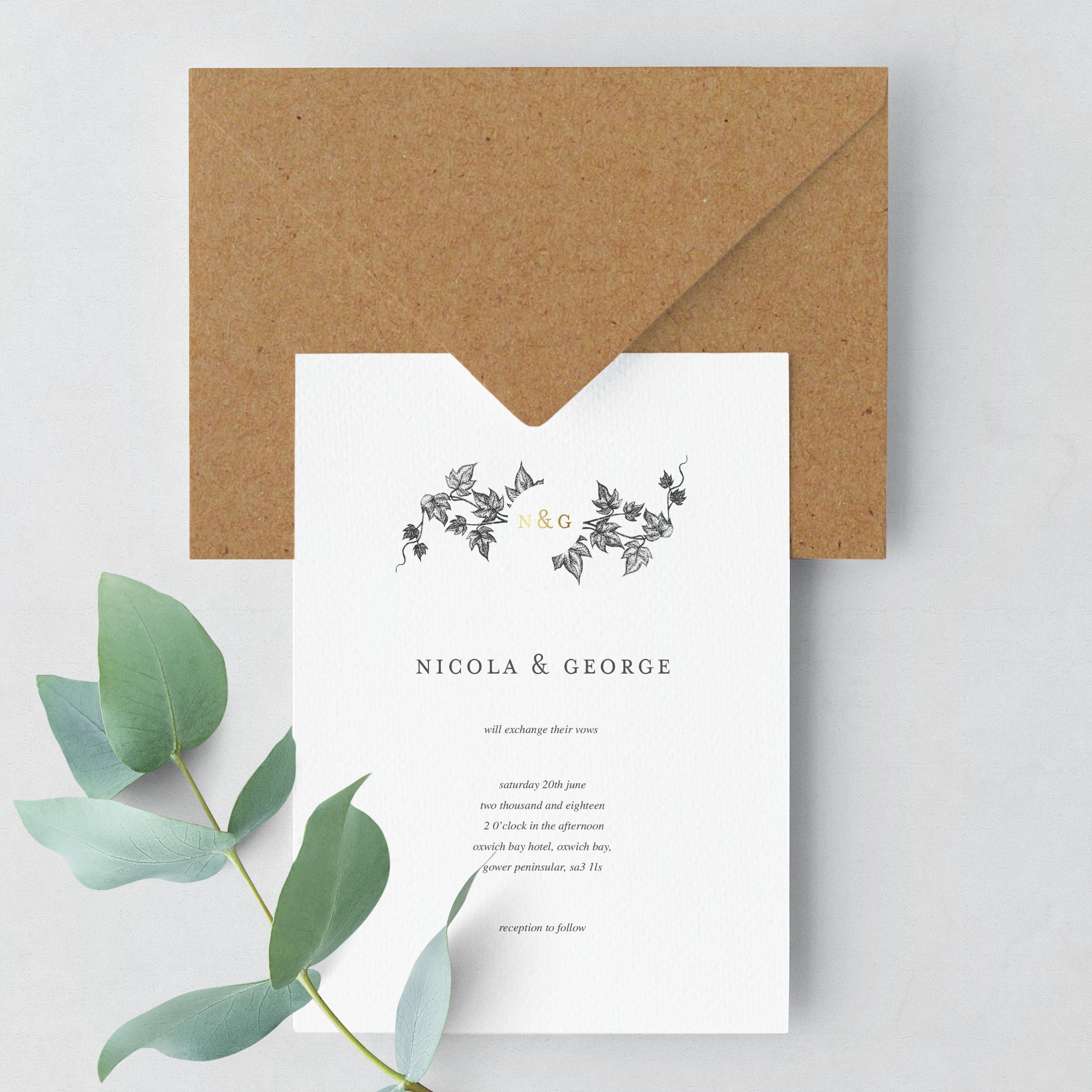 Ivy Wedding Stationery Suite Wenna Designs
