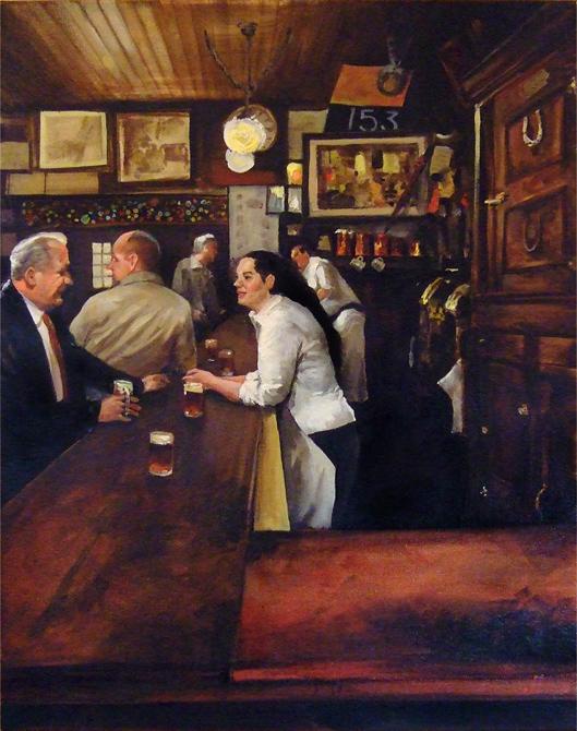 Behind the bar at McSorley's