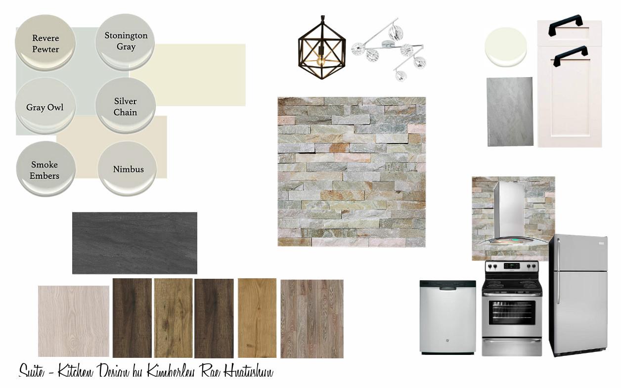 Kitchen reno design board.