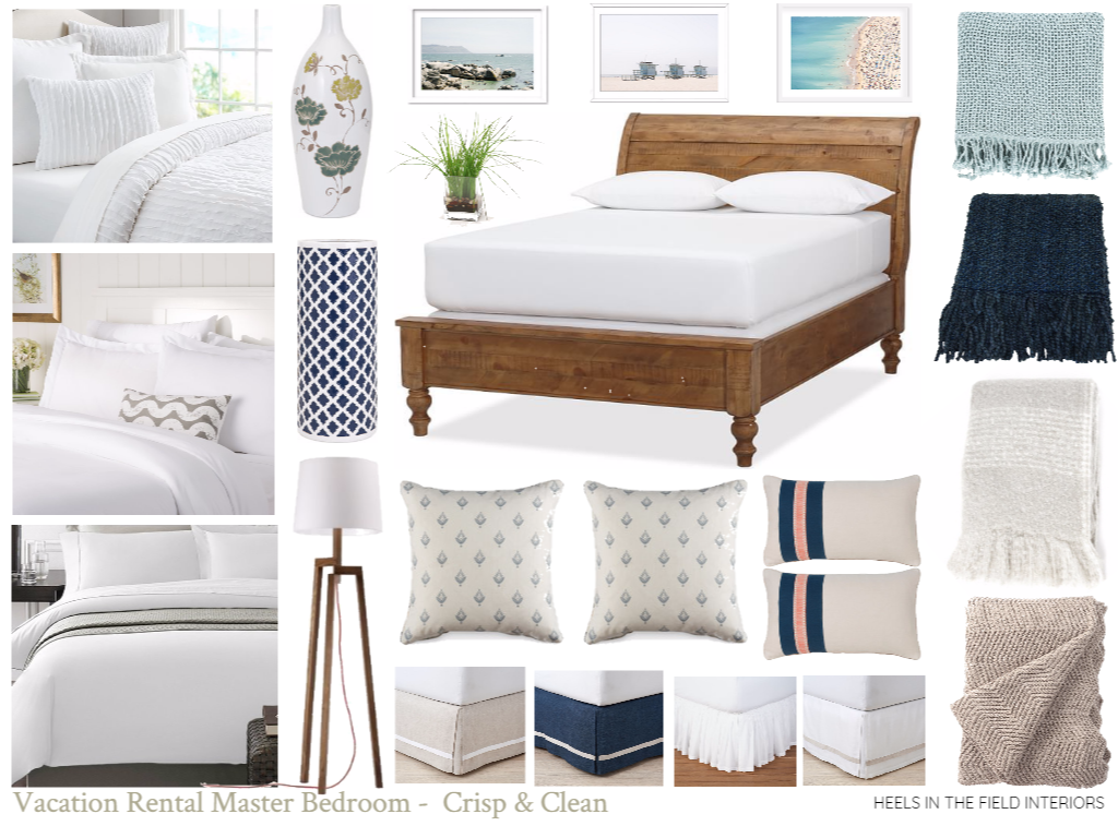 Creating A Tranquil And Relaxing Vacation Rental Master Bedroom Heels In The Field Interiors