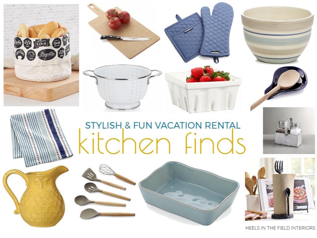 Vacation rental kitchen finds.