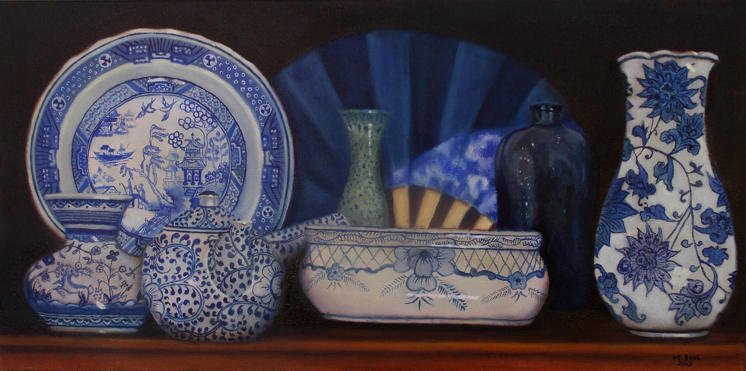 Blue and white porcelain ware.JPG