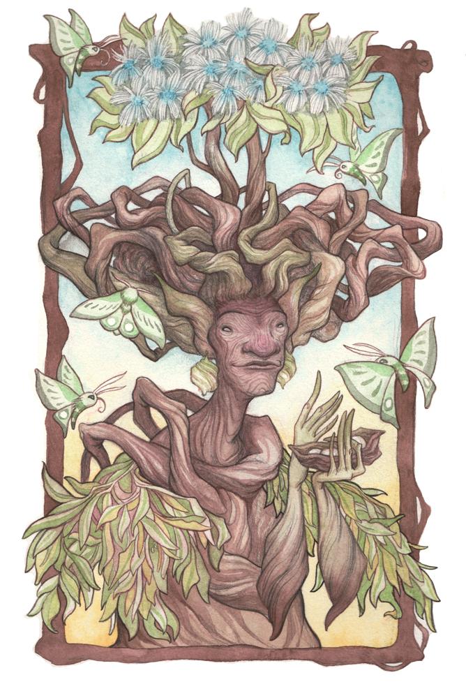 Yavanna Queen of the Earth Giver of Fruits-TiffanyEngland-Original.jpg