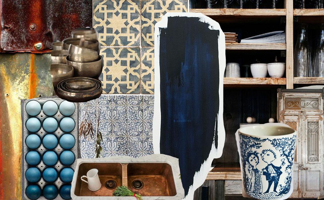 Hague Blue & Copper  Moodboard