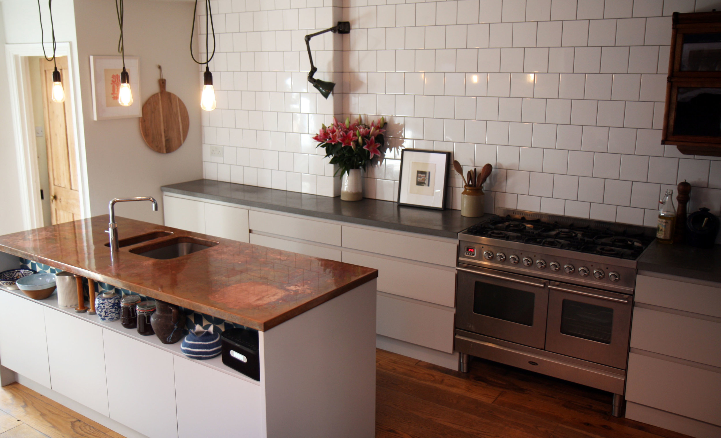 To see more of the finished kitchen, scroll through  here.