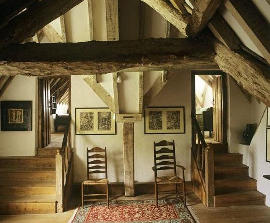Super simple A&C interior at Kelmscott Manor