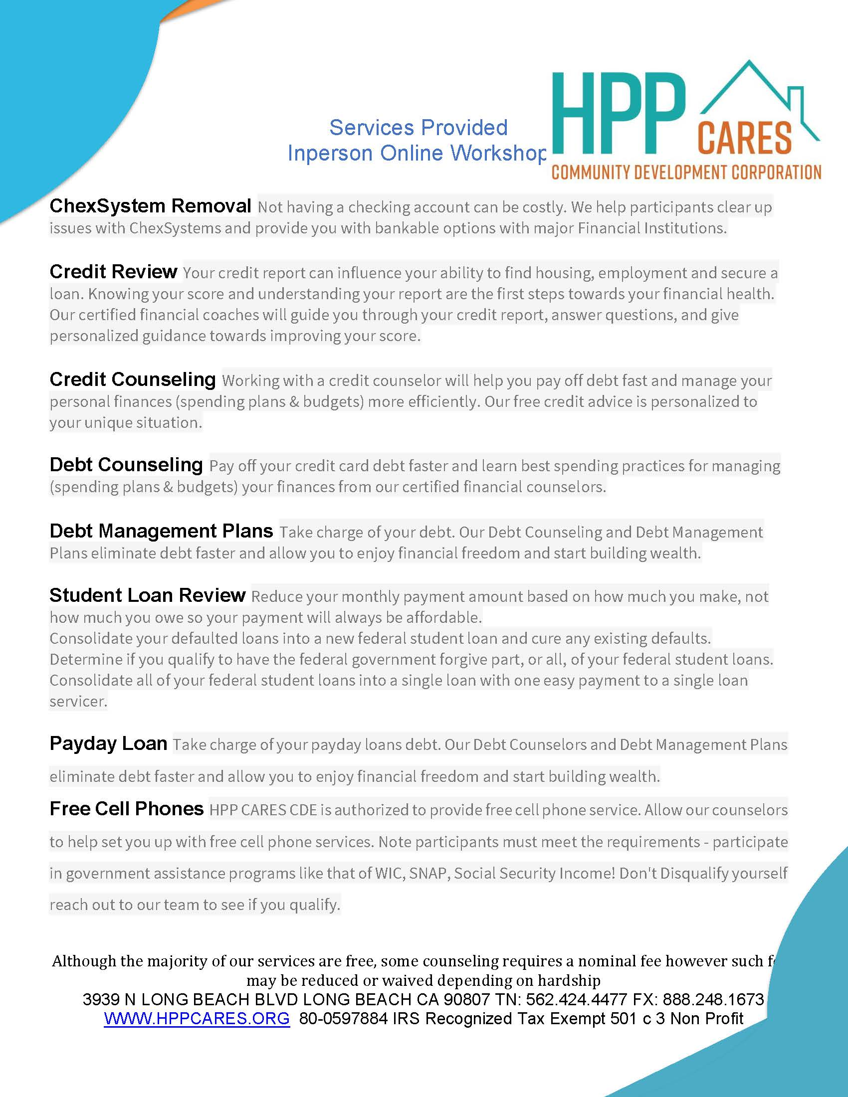 HPP Cares Operates as a Nonprofit 501c3 Services Provided 072019.jpg