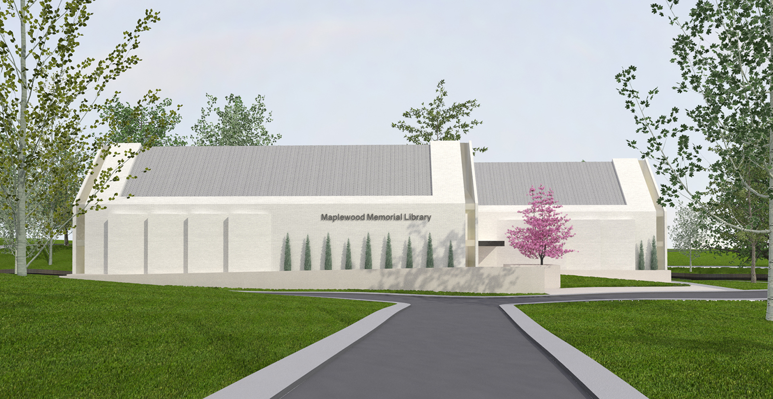 Luay Bahoora Architects - Maplewood Memorial Library RFQ Concept