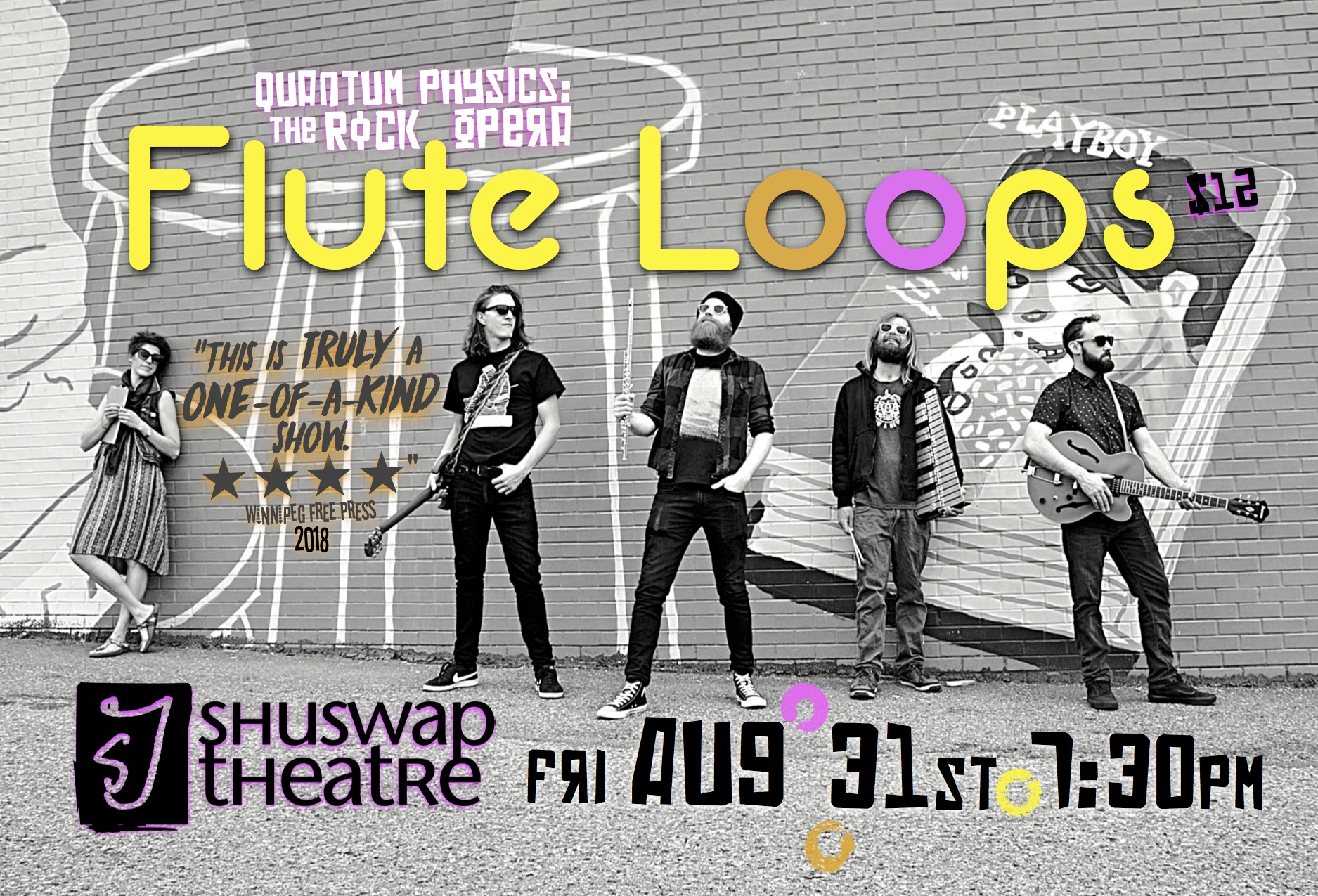 Shuswap Theatre  presents   Flute Loops  , for ONE NIGHT ONLY in Salmon Arm: August 31!