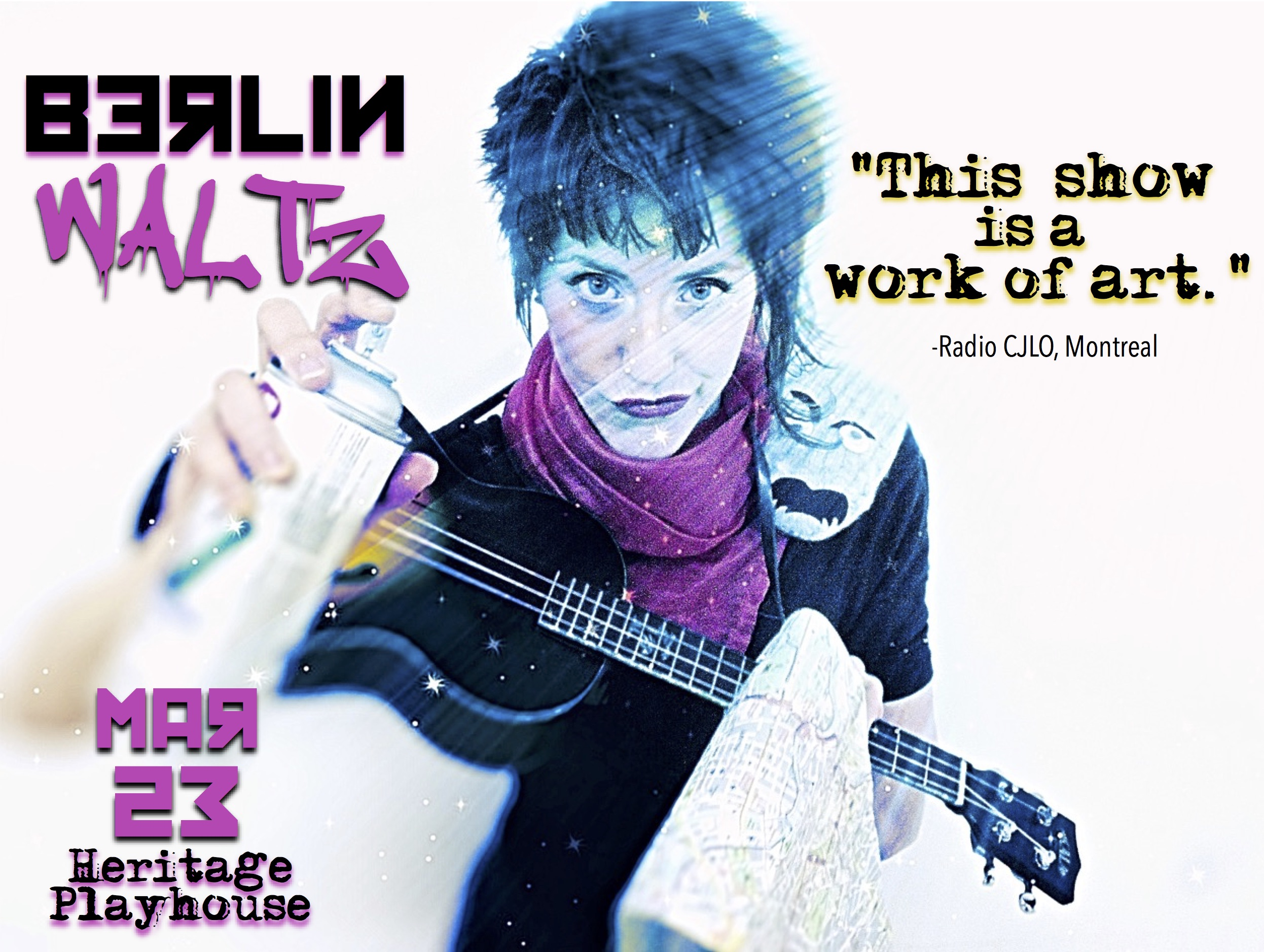 As a    young woman on her bicycle    retraces all    100-miles of the Berlin Wall   , she relives the    history of its Rise and Fall    and builds her own hypnotic    Wall of Sound    using a strange arrangement of musical instruments...