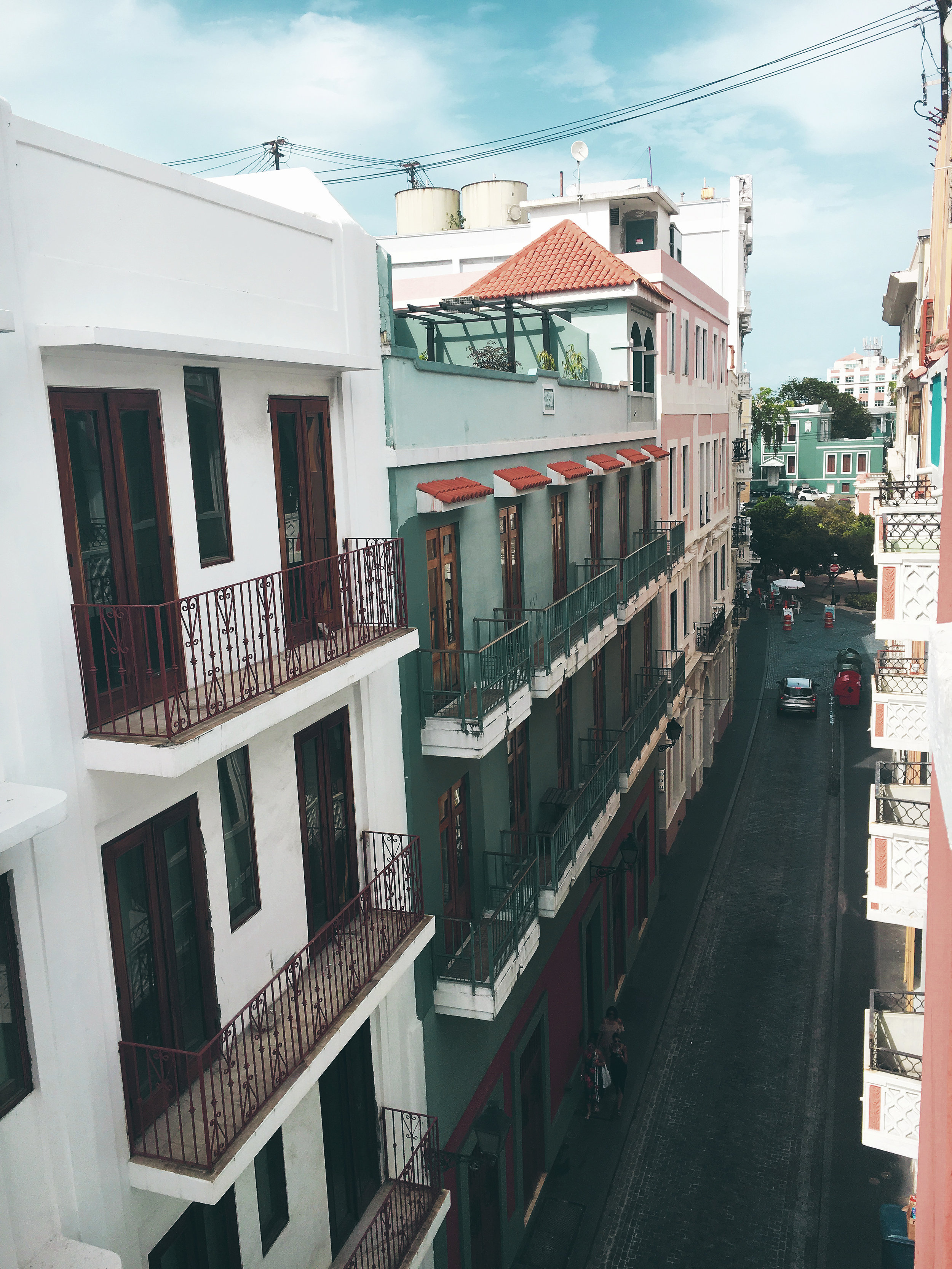 view from our balcony, old san juan