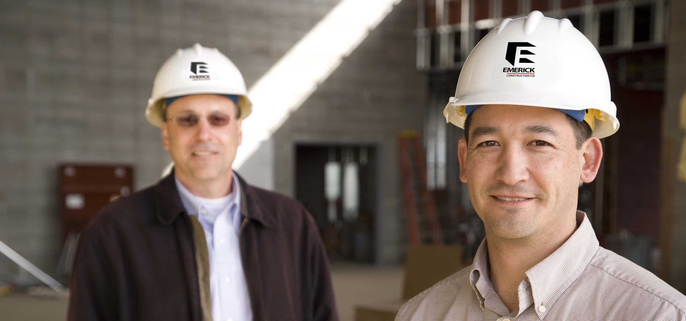 Art Beyer, Project Executive and Mike Williams, Project Manager with Emerick