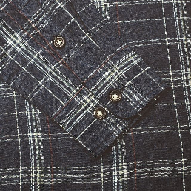 Indigo and red plaid shirt from the always classic Corridor.