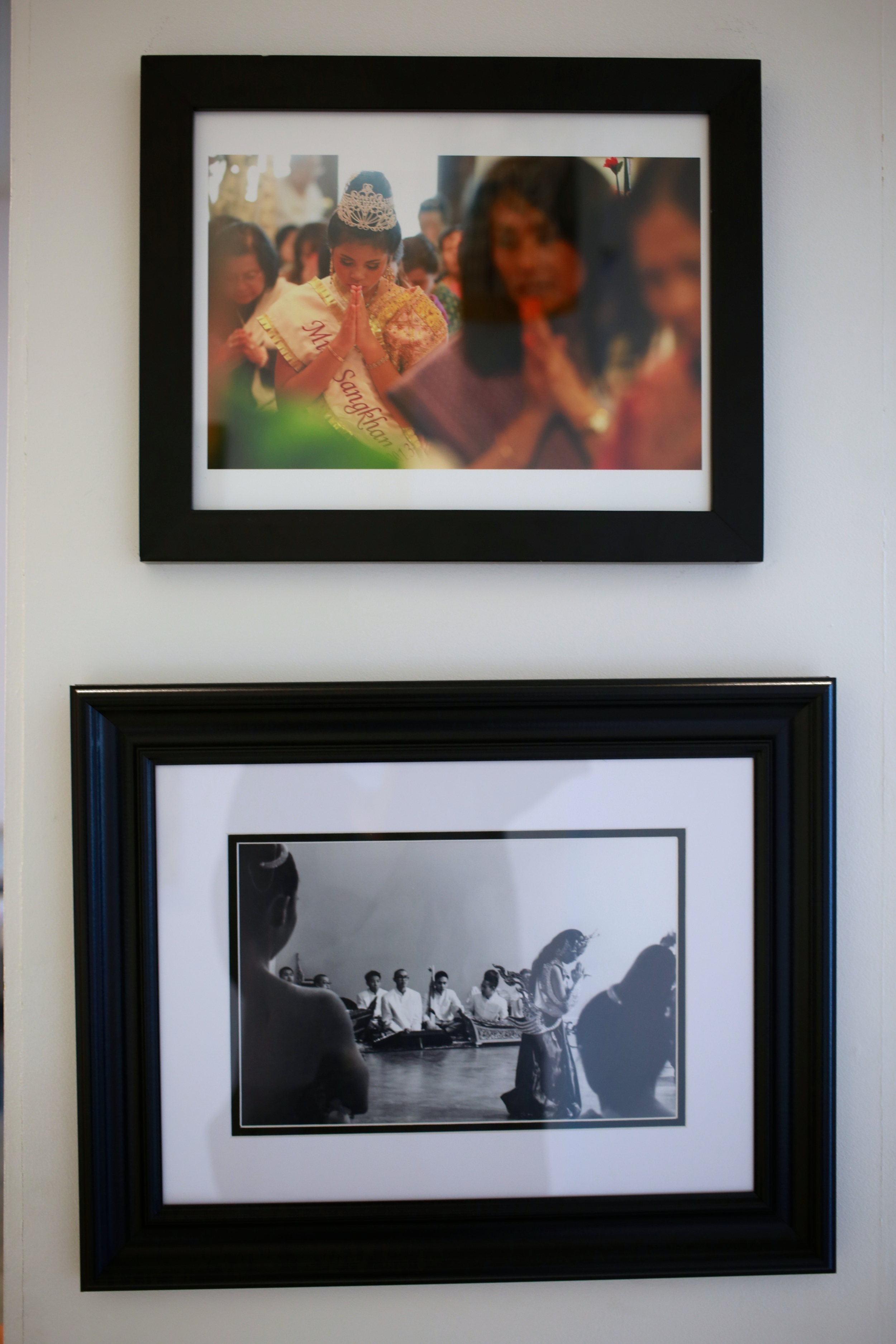 "TOP: ""Miss Sangkhan, 2013"" by Khampha Bouaphanh. BOTTOM: ""Kinnaly, 2014"" by Dennis Sikhanthat"