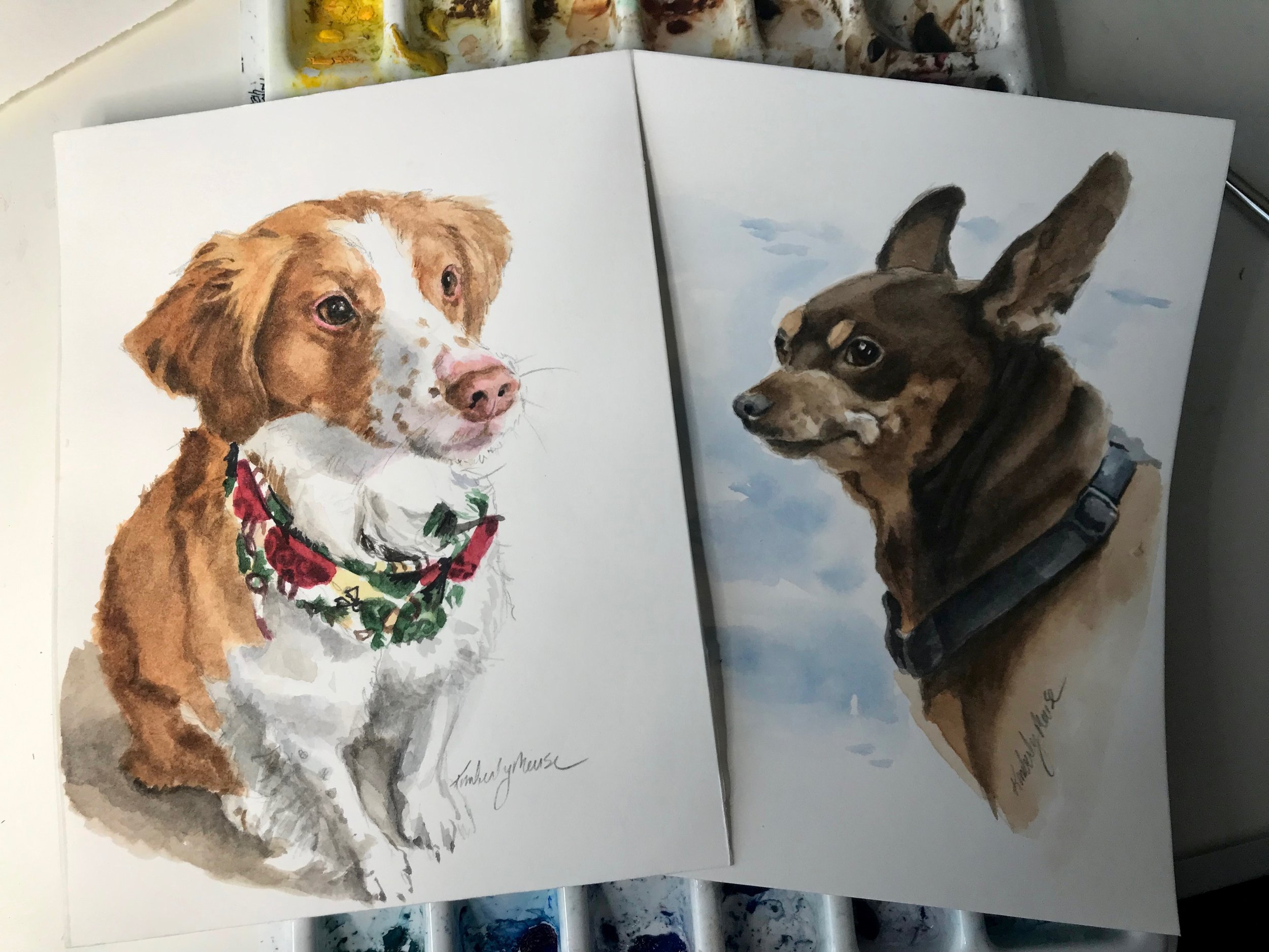 Sketches in watercolor