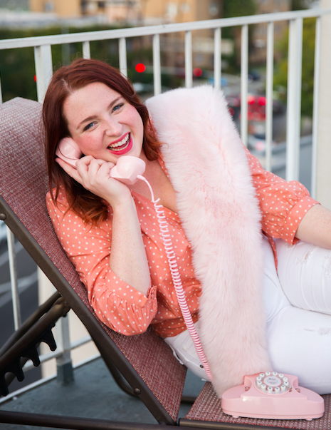 This is my preferred way to chat: in a fabulous fake fur.