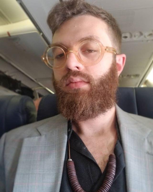 On the way home from a nice weekend in Denton. #denton #texas thanks for the rad hair chop @beardedladybrand #haircut #beardtrim #beard @zennioptical @southwestair