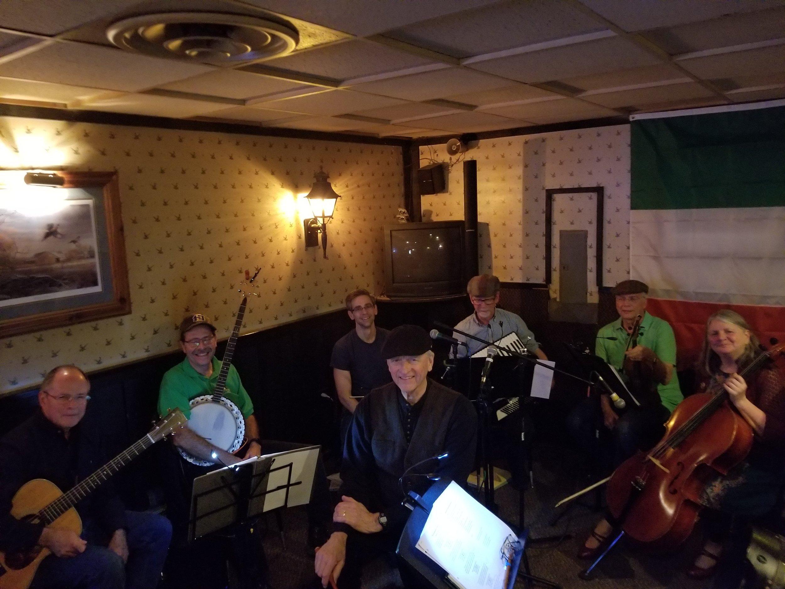 My dad's Irish Band's first concert