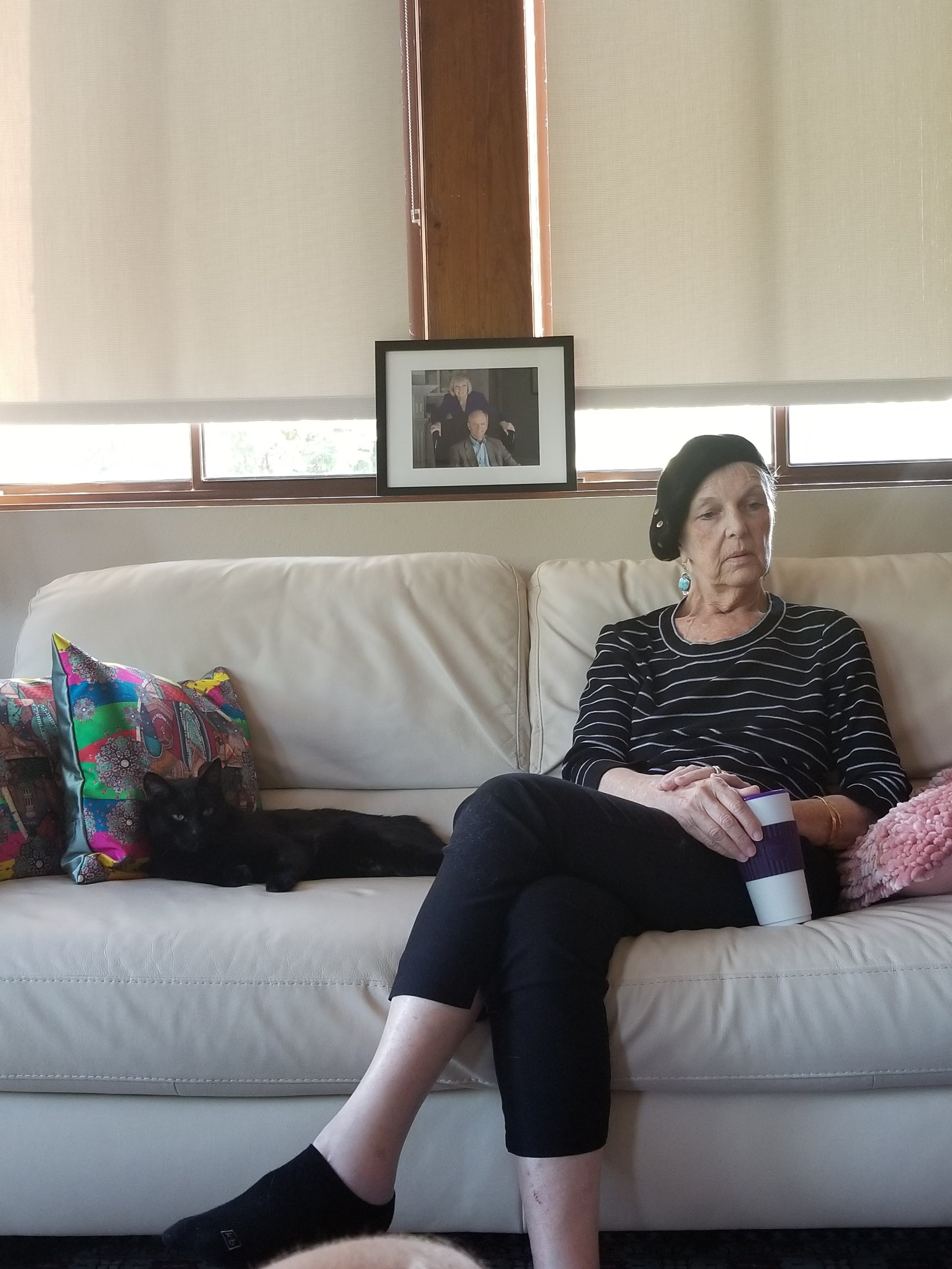 Reflection - I think of this photo as my mom reflecting upon what the past four months brought