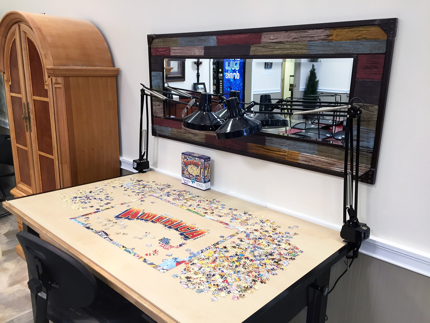 Puzzle and Craft Area