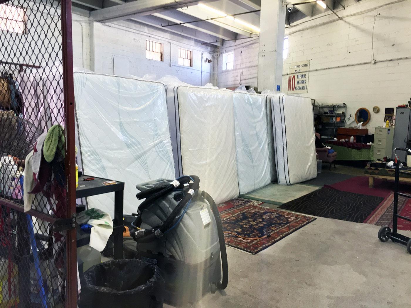 Storeroom - Materess Refurbishing Center