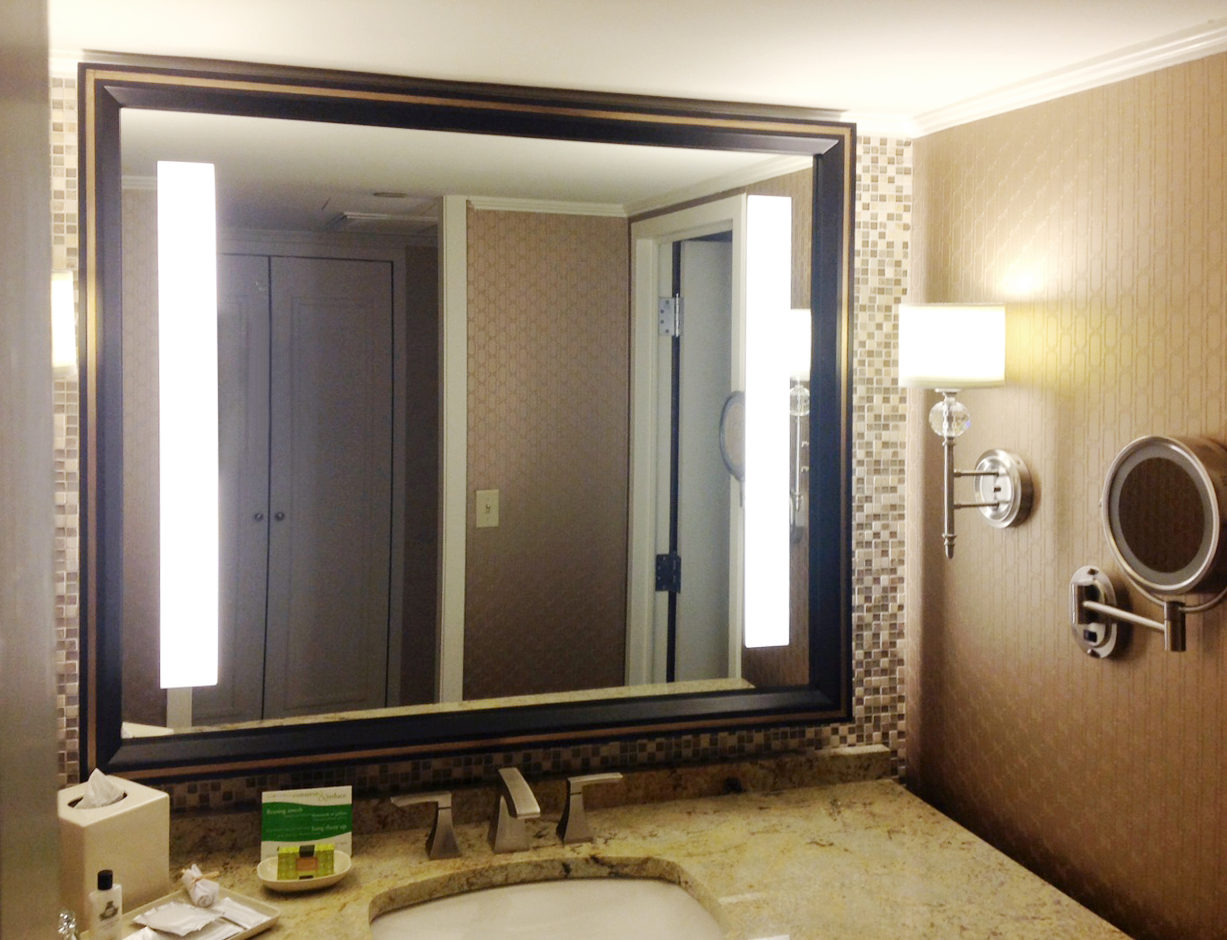 Custom Mirror Designed for Hotel Installation