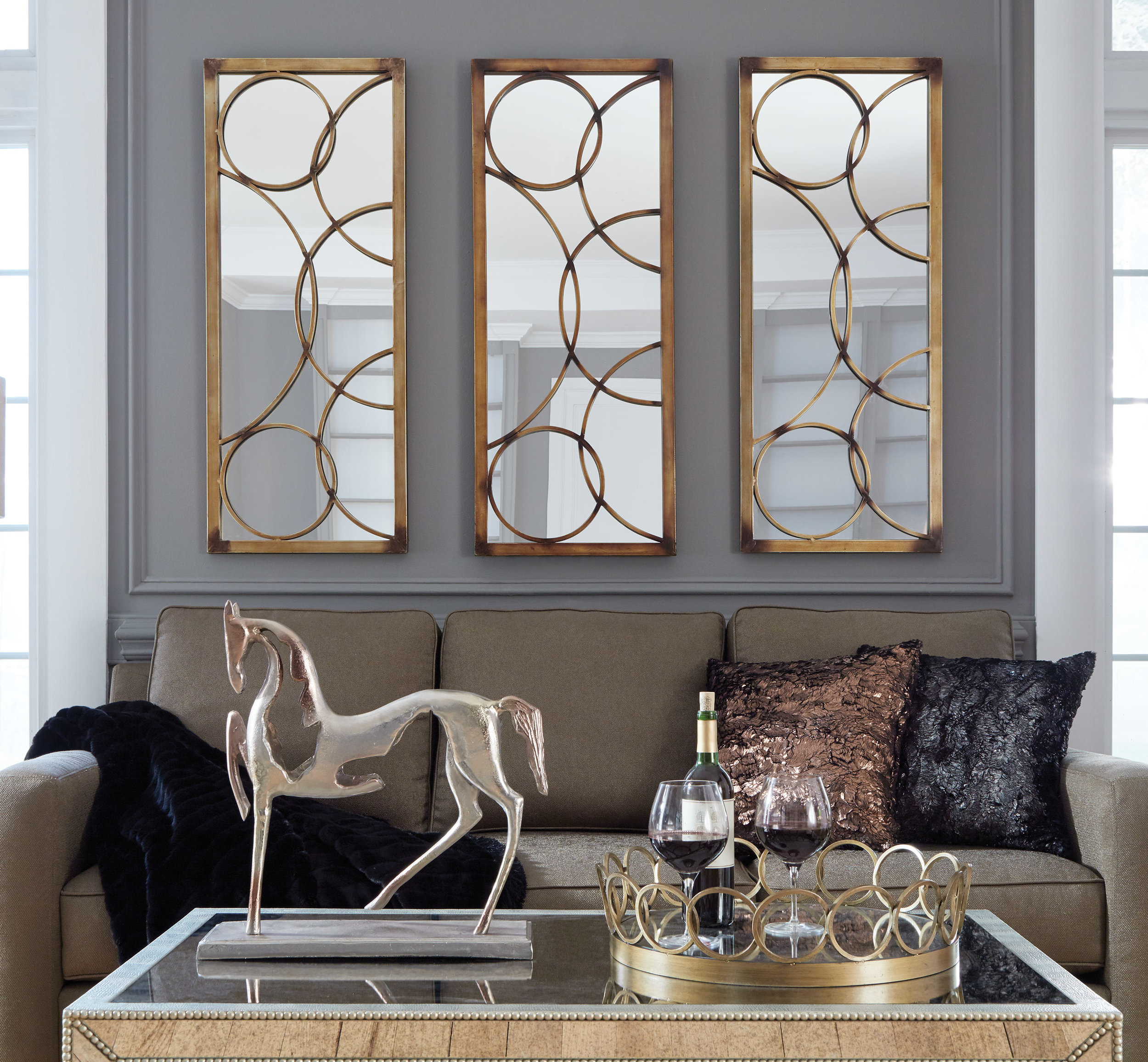 Brittany Mirrors in set of three - click image to view mirror