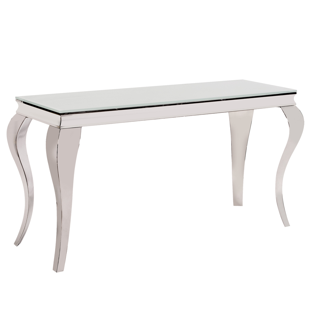 Curvy Leg Stainless Steel Console Table -  V  iew Online >