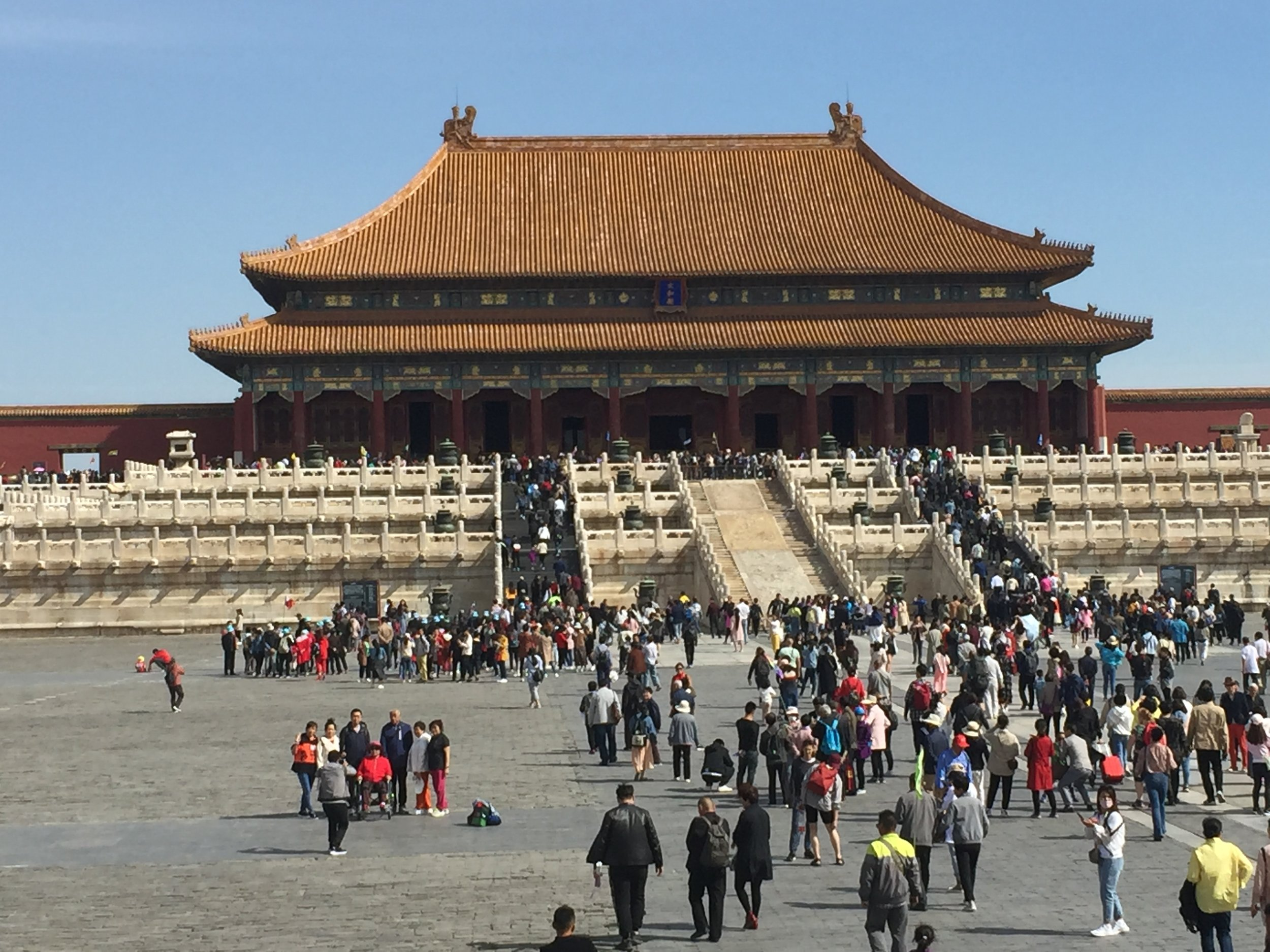 Sightseeing at the Forbidden City in Beijing