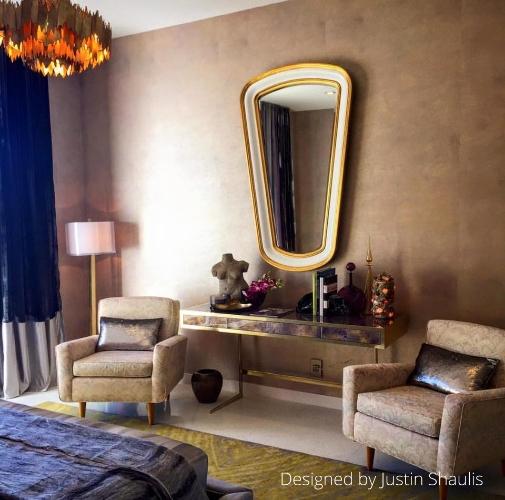 Howard Elliott Darius Mirror shown in an Installation by Justin Shaulis.  View Online >