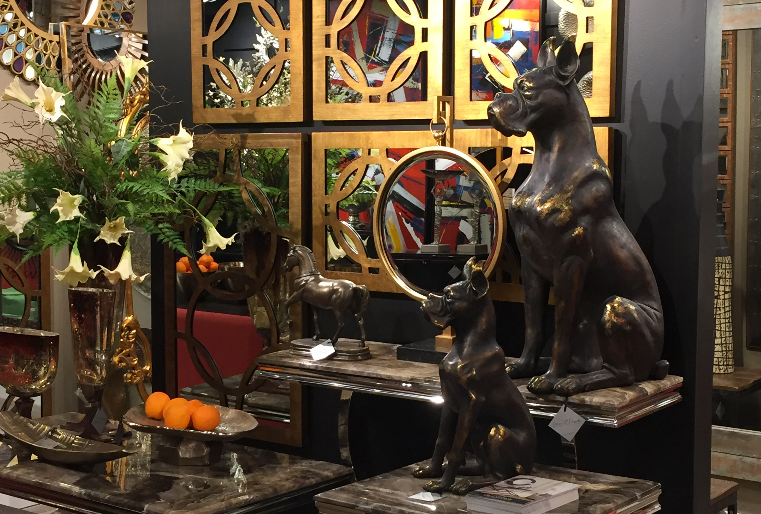 Bronze Guard Dog Statues  View Online >