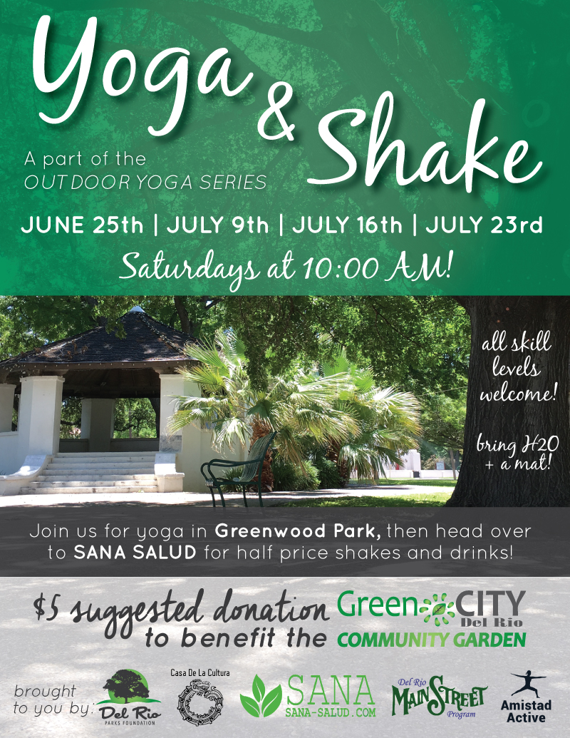 Join us for a great event to benefit the Del Rio Community Garden (and you!). Join the  Facebook event  for more details.