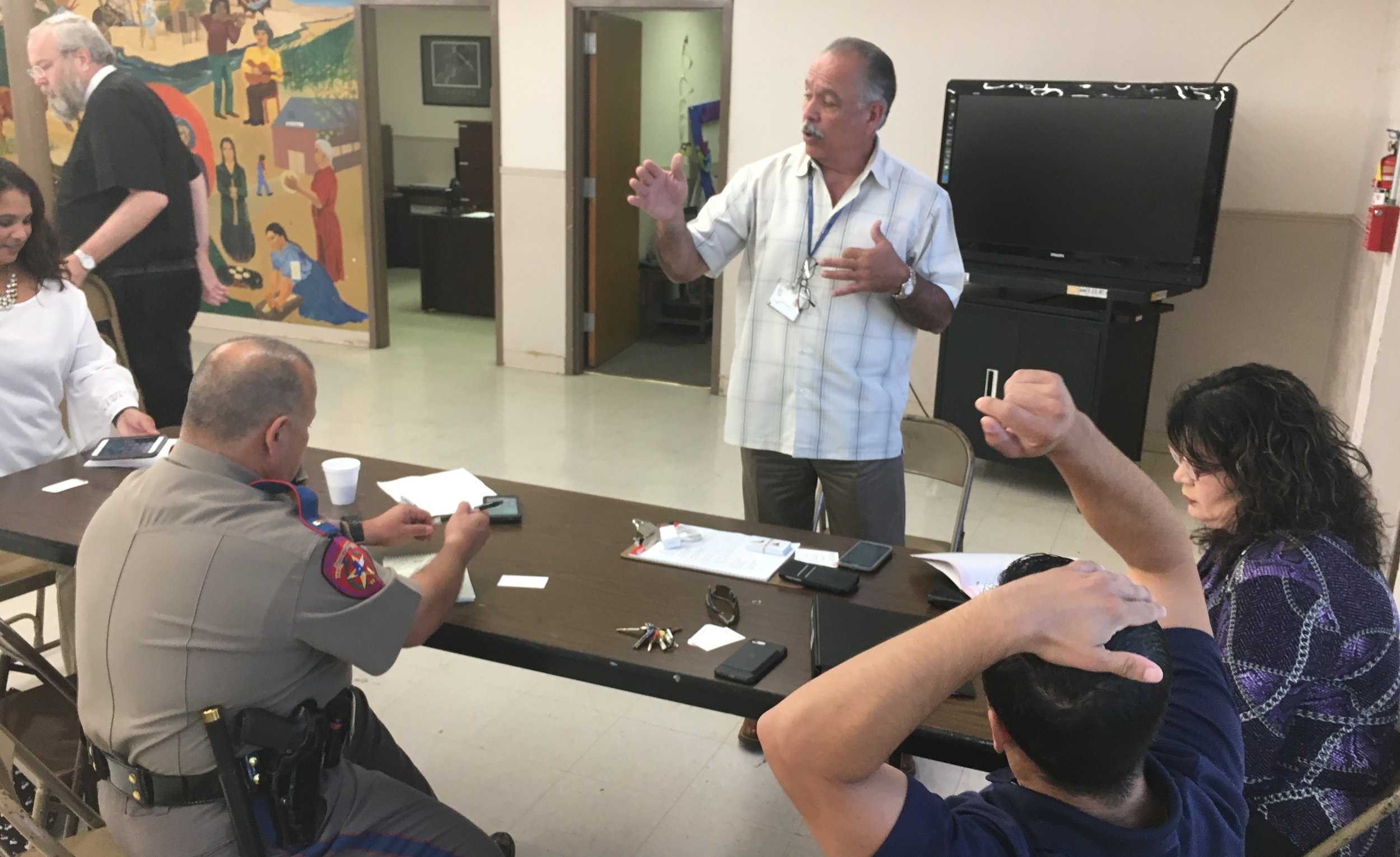 Alfred Lozano, City of Del rio emergency management, discusses plans for donation allocation in the city of del rio.