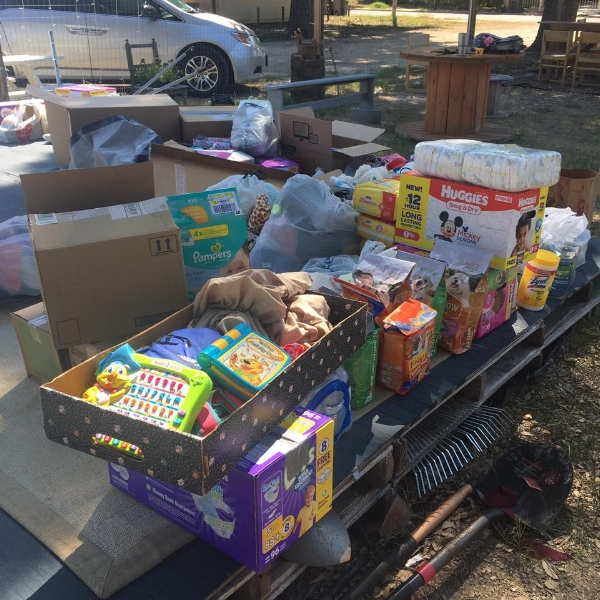 Donated Supplies at Community garden