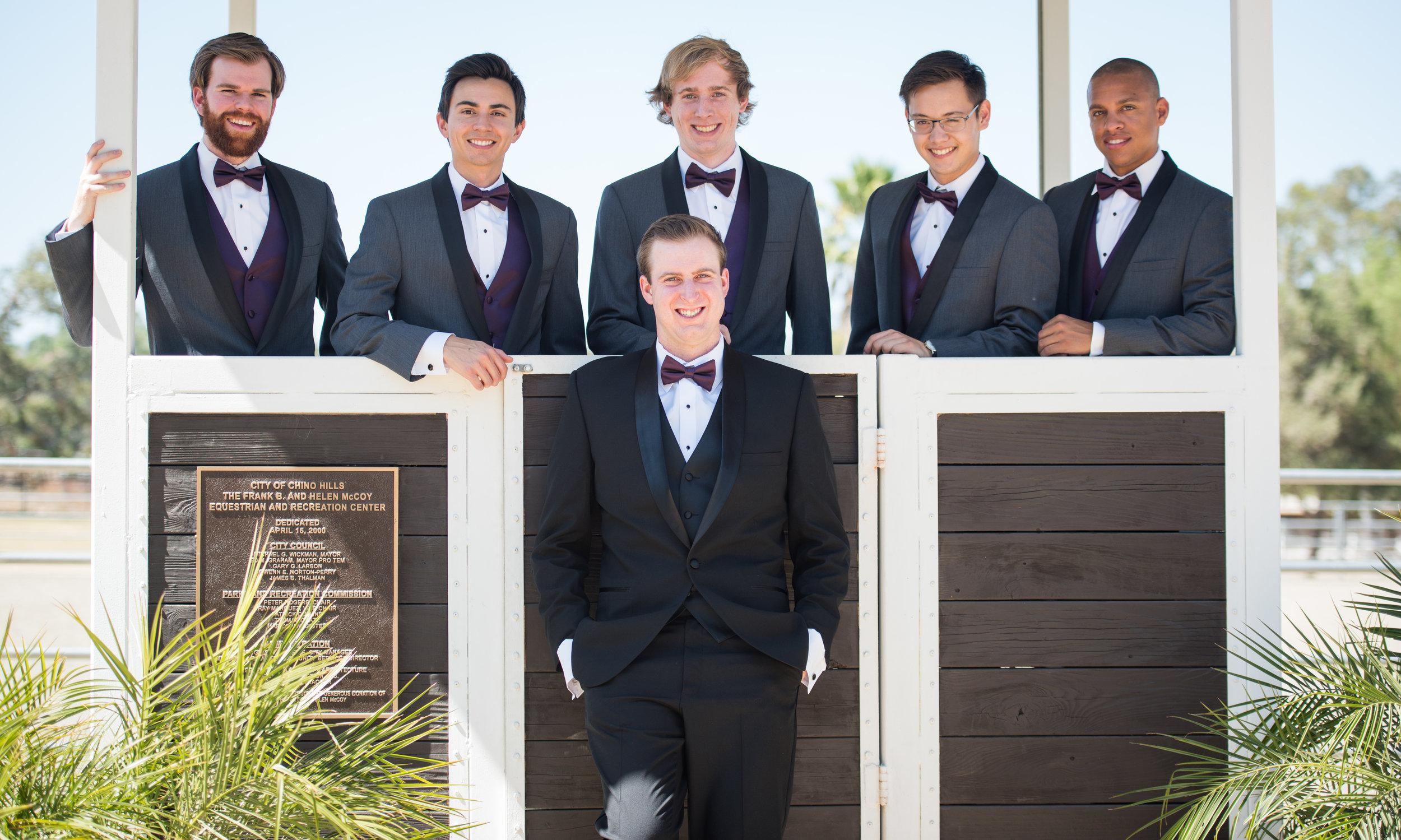 McCoy Equestrian Center Wedding Groomsmen | Forever Taeken Weddings