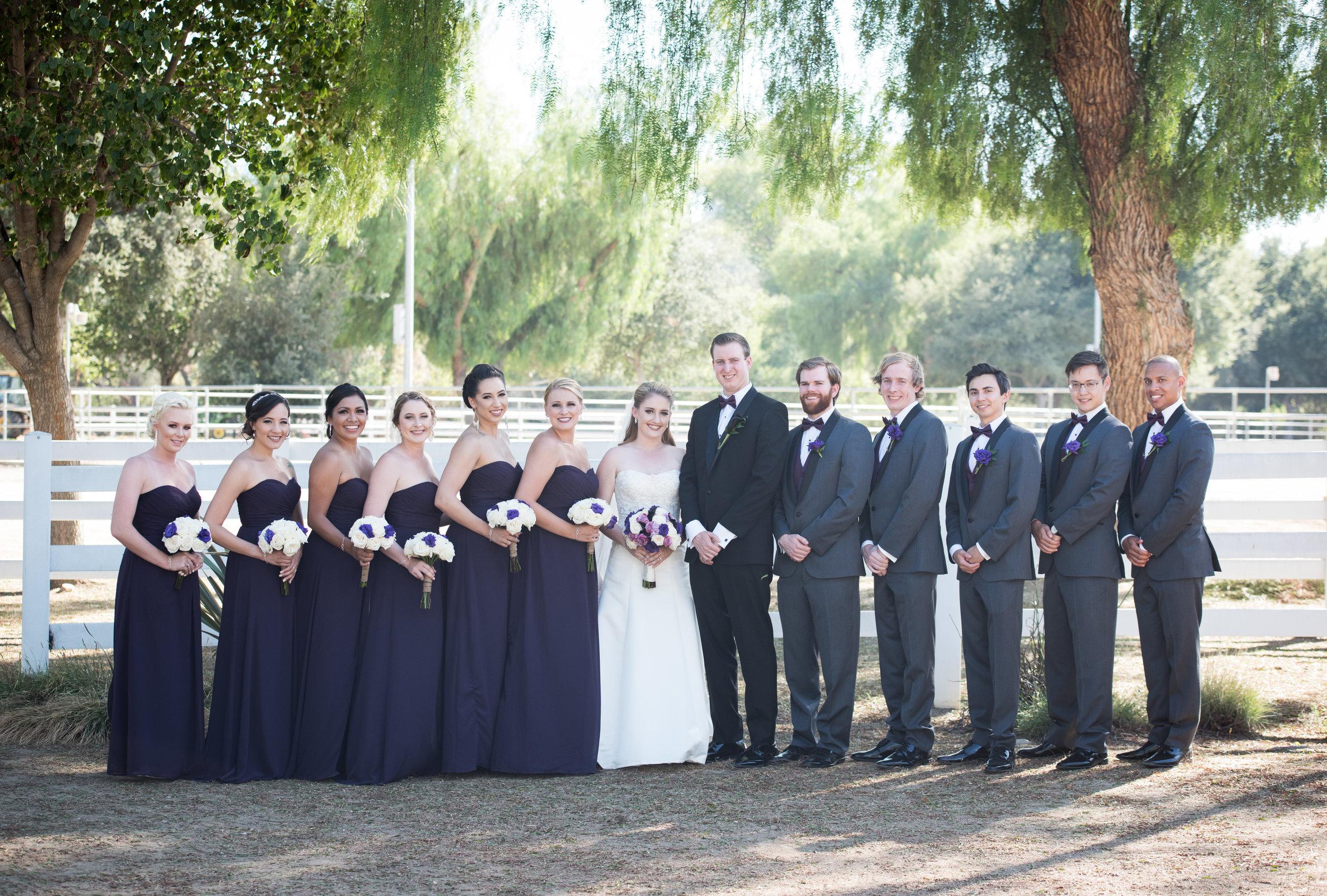 McCoy Equestrian Center Wedding Bridal Party | Forever Taeken Weddings